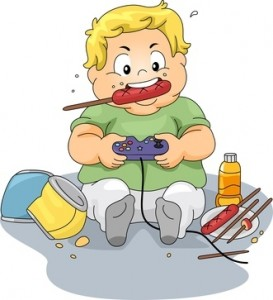 obese child cartoon